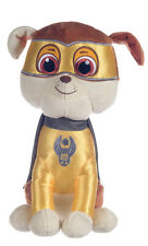 """NEW OFFICIAL 12"""" PAW PATROL SUPERHERO RUBBLE PUP PLUSH SOFT TOY NICKELODEON DOGS"""