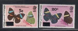 BELIZE Butterflies Surcharges MNH stamps
