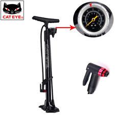 CATEYE Cycling Pump MTB Road Bike Floor Pump 160 PSI Presta & Schrader Pump UK