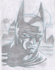 Mike DeCarlo Signed Original DC Comic JLA Justice League Art Sketch ~ Batman