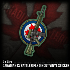 Canadian C7 AR M4 Rifle Army Military War Rifle Vinyl Decal Sticker