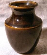 Prinknash Gold-Brown Pottery Vase