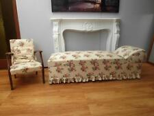 Pretty VINTAGE Floral DAY Bed with STORAGE & Matching ARM Chair QZZQ Adelaide