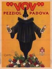 VOV PEZZIOL LIQUEUR PADOVA ITALY CLOWN VINTAGE RETRO ADVERTISING POSTER 1581PY
