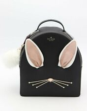 NWT Kate Spade New York Hop To it Rabbit Sammi Black Leather Backpack Bag New