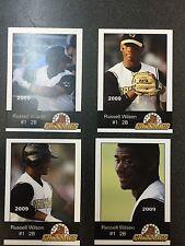 Rare Set Of 4 2009 Russell Wilson Gastonia Grizzlies Minor League Baseball Cards