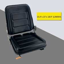 Forklift Seat With Back Rest Waterproof Pvc Leather Garden Lawn Mower Seatblack