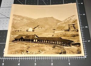 1910 Gardner MT Montana Railroad Station YELLOWSTONE PARK Vintage Snapshot PHOTO
