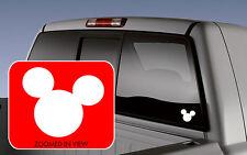 Mickey Mouse Ears Symbol Car Vinyl Window Decal Sticker laptop wall