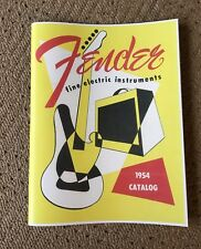 FENDER VINTAGE 1954 PRODUCT CATALOG - REPRINT! Great Photos Vintage Gear