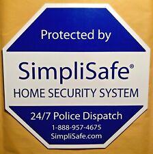 SimpliSafe Home Security System Original Octagonal Window/Yard Sign - Brand New