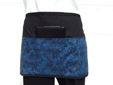 Black Dark Blue Glitter server waitress waist apron 3 pocket restaurant