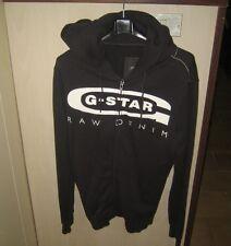 G-STAR felpa sweatshirt with hood con cappuccio size L 100% cotton col. BLU-BLEU