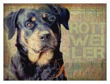 ROTTWEILER DOG Art Print Poster-Rottie-Vintage Series Wendy Presseisen
