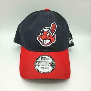 New Era 49Forty Cleveland Indians Wahoo Cap Hat Adult Fitted Medium Blue Red