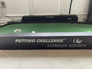 Putting challenge golf game practice indoor portable putter green mat。