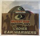 Mossy Oak Bottomland Ladies One Size Fits Most Pink Camo & Black Ear Warmers