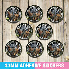 Jurassic World Birthday Party Stickers, Thank you, Sweet cone Labels x 35
