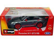 PORSCHE 911 997 GT3 RS GREY BURAGO 11034 DIAMOND 1/18 1:18  GRISE 2006