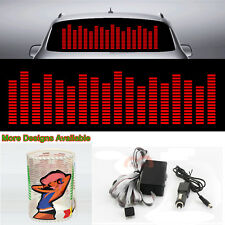 Red Music Rhythm Flash Light Bar Sound Activated Equalizer Car Sticker 90cm*25cm