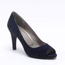 Easy Spirit PEEP TOE PUMP Women Peep-Toe Heels NAVY SUEDE(WIDE),9
