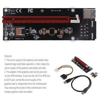 PCI-E Express 1x to 16x Extender Riser Card 4Pin USB3.0 Cable for BTC Miner