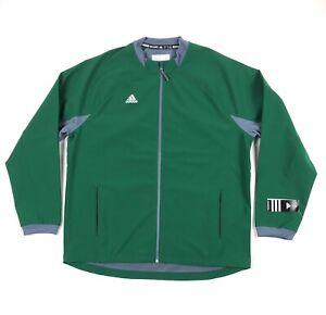 Adidas Fielders Choice Jacket Mens XL Baseball Dark Green Gray Full Zip