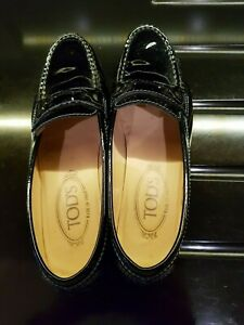 Tods black leather ballet shoes new in perfect condition.