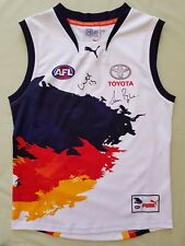 Adelaide Crows 2013 Puma Away Guernsey Youth Size 16 BNWT Signed Betts & Pyke