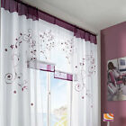 Door Window Curtain Drape Panel Scarf Assorted Solid Sheer Voile Valances