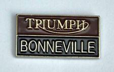 Metal Enamel Pin Badge Brooch Triumph Bonneville Wording Motorbike Biker Rider