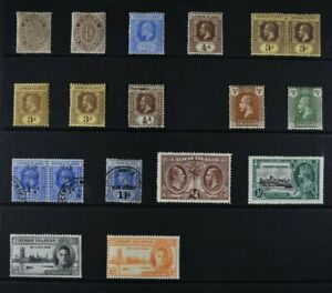 CAYMAN ISLANDS, a collection of 18 stamps for sorting, MM & used condition.