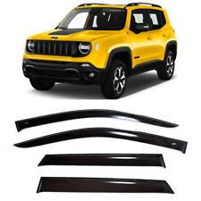 For Jeep Renegade (BU) 2014- Window Side Visors Sun Rain Guard Vent Deflectors