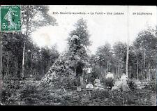 NEUVILLE-aux-BOIS (45) CABANE de BUCHERONS animée en 1908