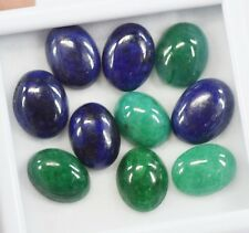 102.50 Ct 10Pcs Certified Blue Sapphire And Green Emerald Gemstone Lot For Sale