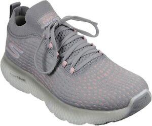 Skechers Women's Max Road 4 Running Shoe, Gray/Pink, 8 B(M) US
