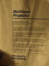 Original Installation manual for dealers VPH D50 D 50 CRT Projector Sony