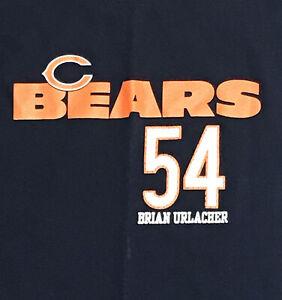 NEW Chicago Bears 54 Brian Urlacher Navy Orange NFL T-Shirt LG Mens Football Tee