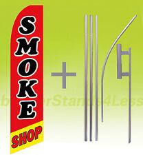Swooper Feather Flutter Banner Sign Flag 15' KIT - SMOKE SHOP rb