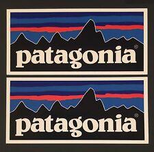 Patagonia Retro Flat Sticker Decal Fishing Hiking Camping X 2