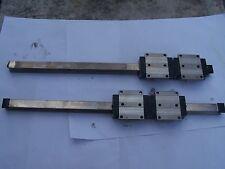 Rail de guidage de précision REXROTH 20 x 20 lg 460 mm - patins 63 x 75 x 25