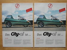 2-4-1 DEAL CITY-EL Electric Microcar Trike rare brochure 1997 - City Com Germany