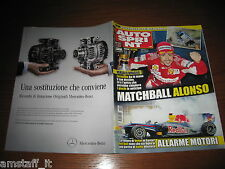 AUTOSPRINT 2010/44=ALONSO MATCH BALL=McLAREN MP4-12C=PUBBLICITA' MERCEDES-BENZ=