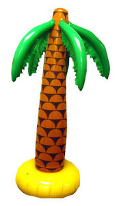 90cm Inflatable Palm Tree Hula Luau Summer Party Prop Decoration Hawaiian Beach