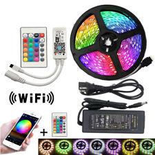 LED Strip 5050 IP30 IP65 RGB LED Light Flexible 5M Remote Controller Adapter Lig