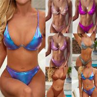 Sexy Women Padded Bra Top Underwear Bikini Set Thong Lingerie Swimwear Swimsuit