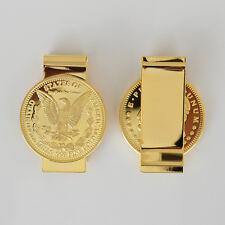 1896 Morgan Eagle Coin Money Clip Wallet Clips 24k Gold Plated Money Holder -TLS