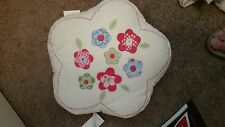 """Pottery Barn Kids """"White Patchwork Flower"""" Throw Pillow"""