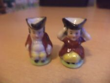 2 x OLD VINTAGE MINIATURE MINI CHINA TOBY CHARACTER JUG CHELSEA PORCELAIN PAIR