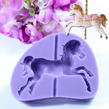 Carousel Horse Silicone Fondant Mold Cake Decor Chocolate Baking Creative Moulds